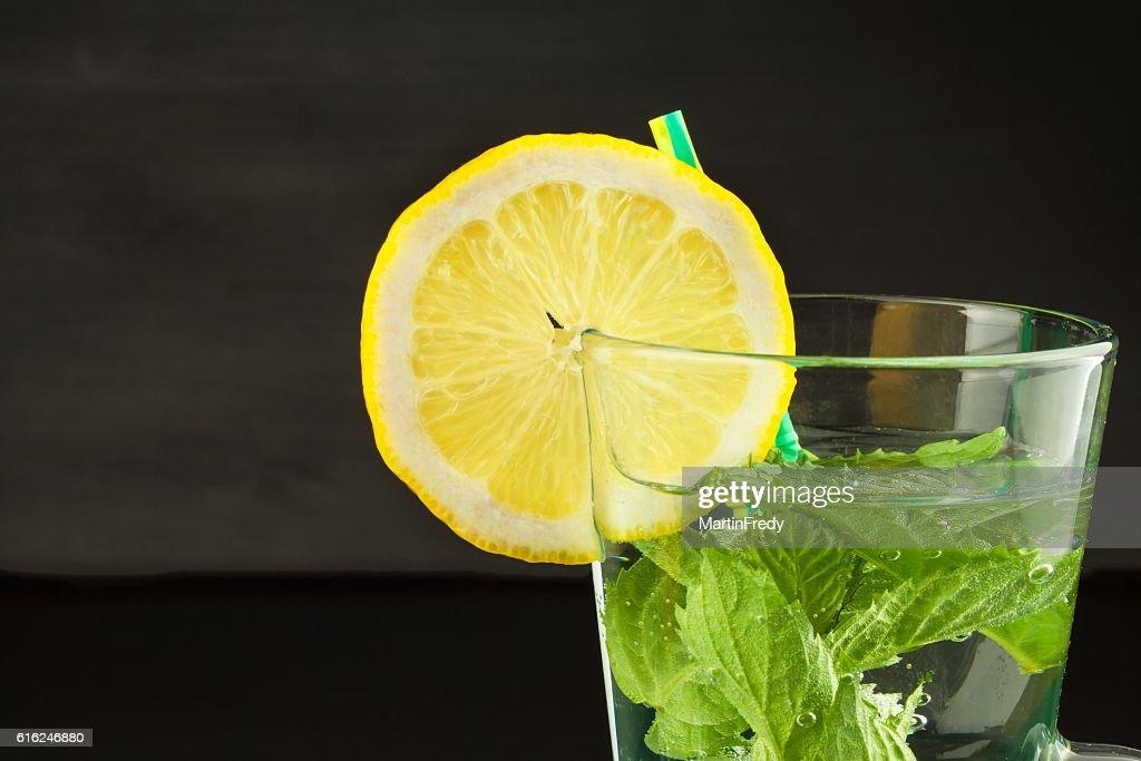 Refreshing mint and lemon. Homemade lemonade : Stock-Foto