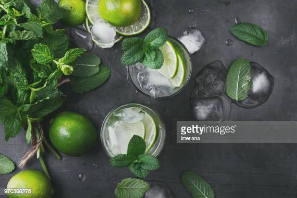 Refreshing summer drink mojito cocktail
