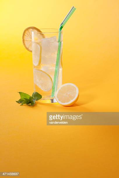 refreshing summer drink - lemon soda stock pictures, royalty-free photos & images