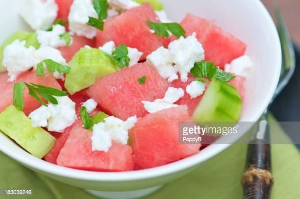Refreshing Summer Salad with Watermelon and Cucumbers