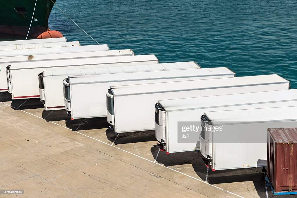 Refrigerated containers : Stock Photo