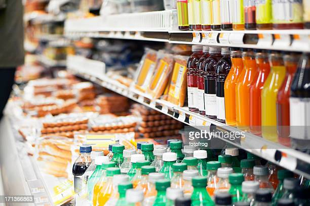 refrigerated foods - refreshment stock pictures, royalty-free photos & images