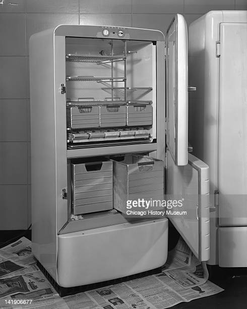 Refrigerator at Marshall Field Company door closed Chicago Illinois May 23 1947