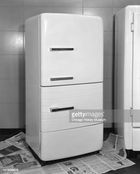 Refrigerator at Marshall Field Company door open Chicago Illinois May 23 1947