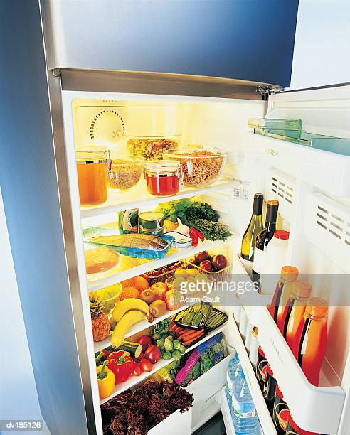 Refrigerator Full of Food and Drink