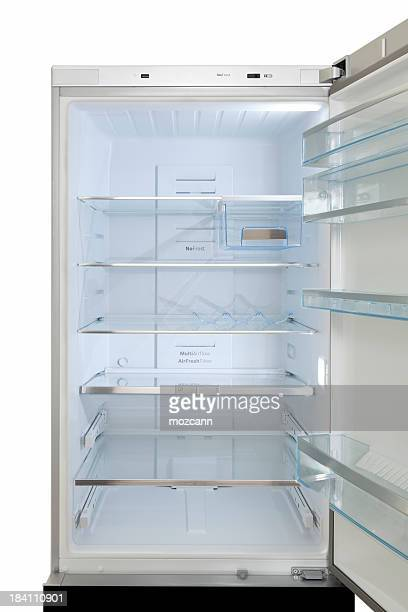refrigerator - empty fridge stock pictures, royalty-free photos & images