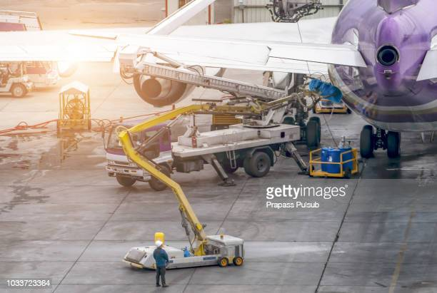 Refueling a  Airlines aircraft at International Airport