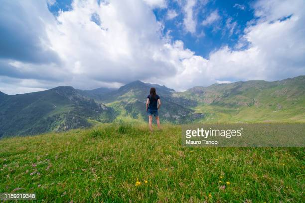"refuge view of san marco passage ""passo san marco"", bergamo province, italy - mauro tandoi stock photos and pictures"