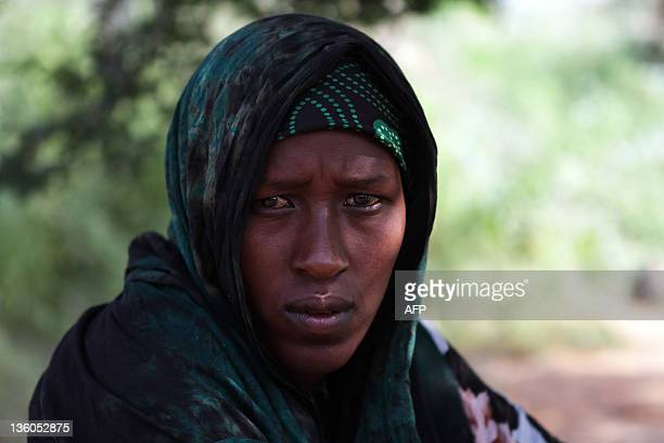 Refugee Abshiro Isakbul is pictured at the Transit Centre in Dolo Ado Ethiopia on December 15 2011 Over 300000 refugees have fled severe drought...