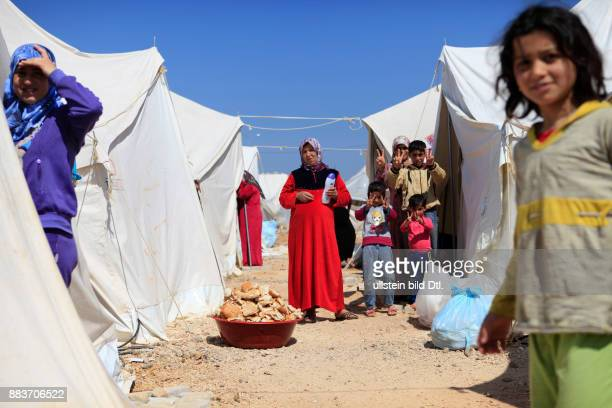 Refugee camp at the TurkishSyrian border provides shelter to Syrian refugees