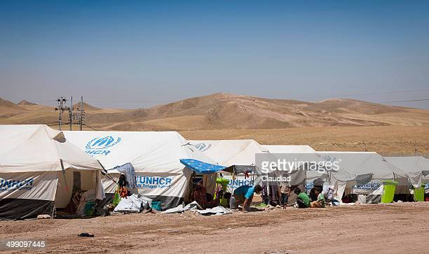refugee camp in iraq - humanitarian aid stock pictures, royalty-free photos & images