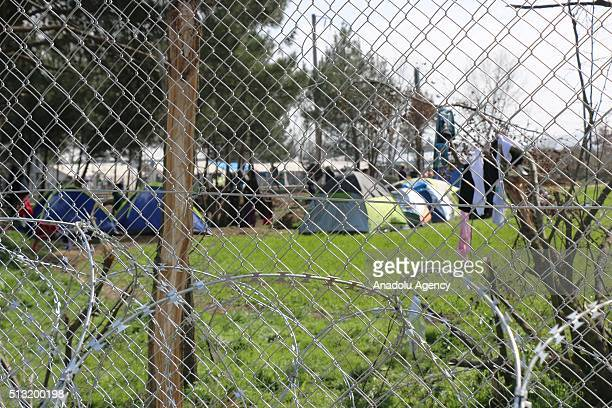 Refugee camp is seen near the Macedonia Greece border in Gevgelija Macedonia on March 1 2016