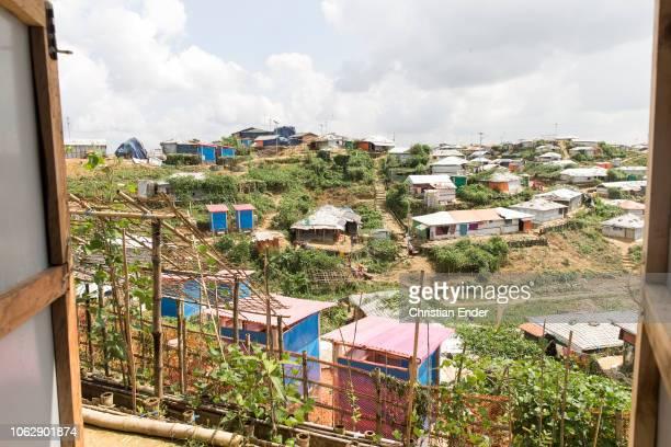 Kutupalong Ukhiya near Cox´s Bazar Bangladesh October 15 2018 Refugee camp of the Rohingyas near Cox's Bazar in Bangladesh in Camp 4 in Kutupalong...
