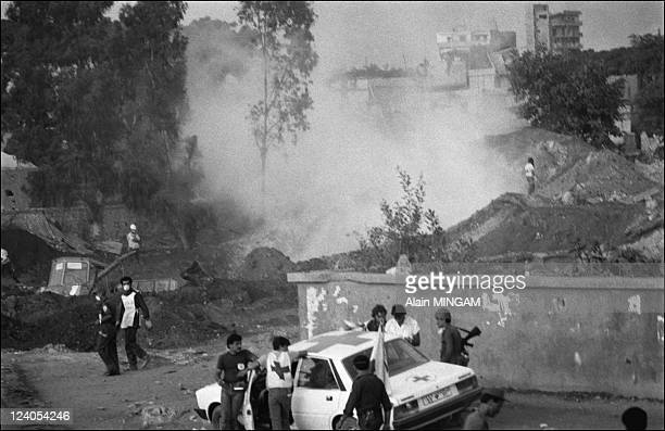 Refugee camps of Sabra and Chatilah in Beirut Lebanon on September 20 1982 Massacre of between 300 and 1500 palestinians