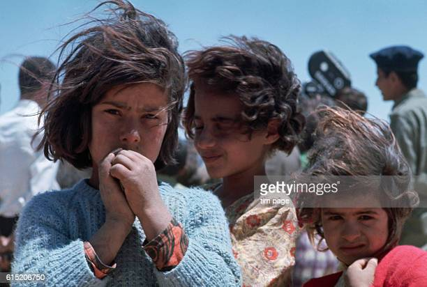 Refugee children stay in the refugee camp at Mafraq Jordan during the Six Day War | Location Mafraq Jordan