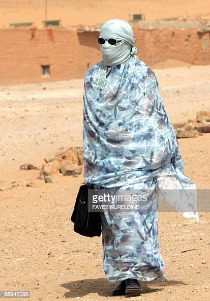 A refugee form Western Sahara returns to the 27 February Refugee Camp in Tindouf reigon in southwest Algeria 18 October 2005 The refugee camps of...