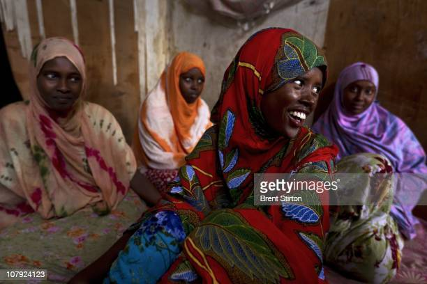 Refugee Somali women inside a single room residence in the AlBasateen urban refugee area Aden Yemen August 11 2010 These women are part of the 80 000...