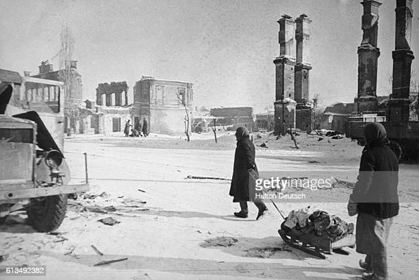 Refugees After the Battle Of Stalingrad