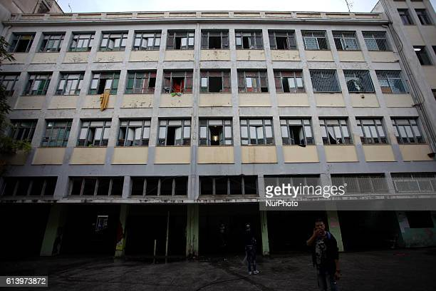 Refugees and immigrants find shelter in an abandoned building in Athens city center About 400 people mainly from Syria and Afghanistan live in this...