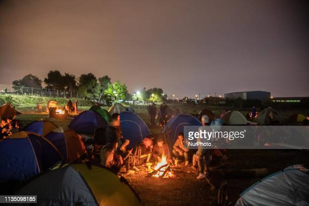 Refugees and migrants gathered from all over Greece at Diavata to begin their journey to northern Europe as a fake rumor was spread through social...