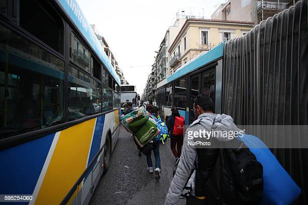 Refugees and Migrants removed from Victoria square in Athens city center where used to find shelter on Feb 29 2016