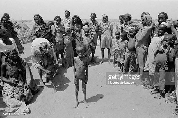 Refugees at refugee camp for drought victims in Darfur