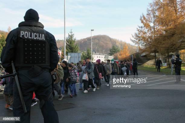 Refugees at Slovenia - Austria Border, November 19, 2015