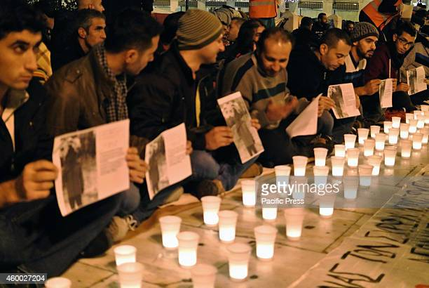 Refugees demand Greek government to show them the respect they deserveSyrian refugees that stay in Syntagma square organized a candlelight vigil in...