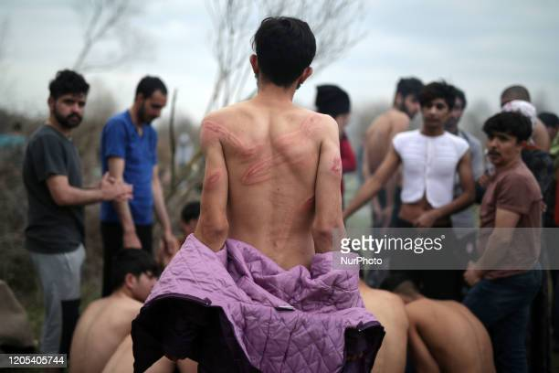 Refugees forcibly returned from Greek territory to Turkey after being assaulted and stripped of their clothes after while trying to enter Greece via...