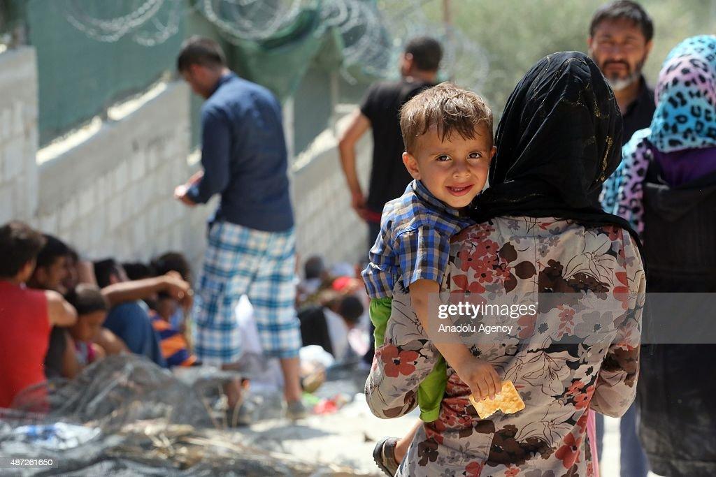 Moria Refugee Camp in Greek Island of Lesbos : News Photo