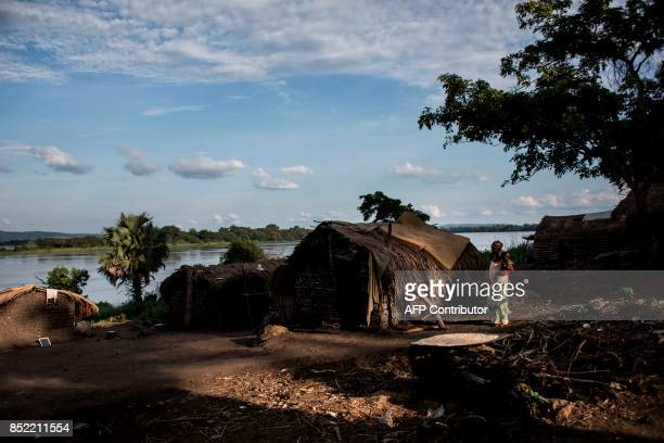 Refugees from Central African Republic take refuge in the village of Nzakara on the Democratic Republic of the Congo side of the Mobayi Border River...