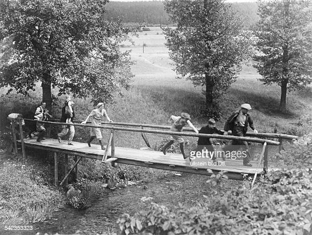 Refugees from East Germany Crossing the green line / border between East and West Germany 1950ies