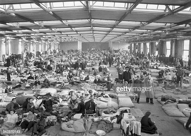 Refugees from East Germany Transit camp for refugees in Berlin - Charlottenburg - 1953