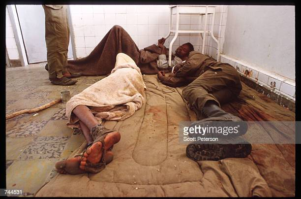 Refugees from Huambo sleep in a hospital March 24 1993 in Caimbambo Angola Despite a 1991 peace treaty the West African nation is again embroiled in...