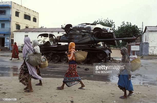 Refugees in Mogadiscio in Somalia in July, 1992.