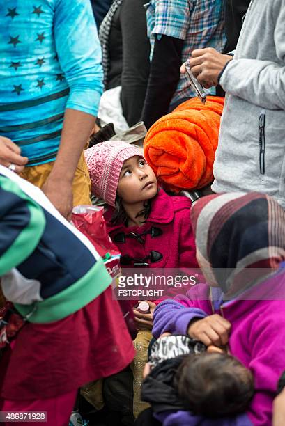 refugees in the keleti train station - refugee camp stock pictures, royalty-free photos & images