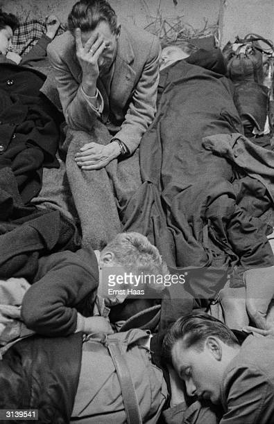 Refugees near the border between Austria and Hungary after the Soviet Army crushed the Hungarian Uprising 14th December 1956