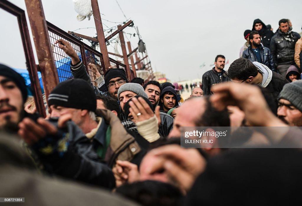 SYRIA-TURKEY-REFUGEES-UNREST : News Photo