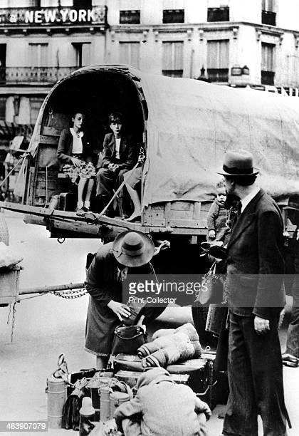 Refugees returning home Paris July 1940 People who had fled the German invaders returning to their homes after France's defeat