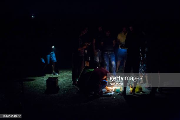 Refugee camp in Velika Kladusa Bosnia and Herzegovina on July 19 2018 Refugee camp in Velika Kladusa is located near Bosnia and Herzegovina and...