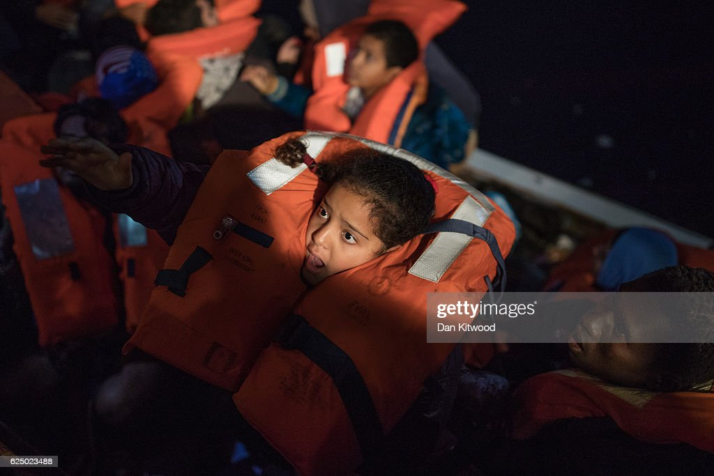 MOAS Conduct Rescue Operations Off The Libyan Coast : News Photo