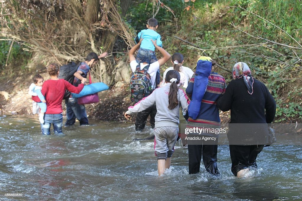 Refugees arrive in Slovenia : News Photo