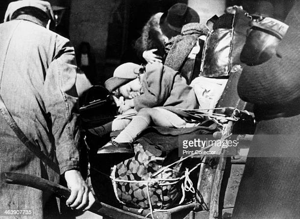 Refugees with their luggage at the Gare de l'Est Paris August 1940 People who had fled the German invaders preparing to return to their homes after...