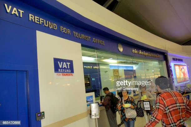 VAT refund office windows at Suvarnabhumi International Airport