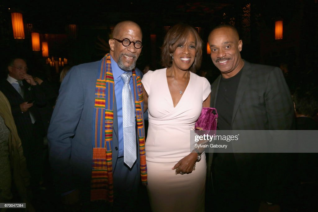 Reg E. Cathey, Gayle King and Rocky Carroll attend 'The Immortal Life Of Henrietta Lacks' New York Premiere - After Party at TAO Downtown on April 18, 2017 in New York City.