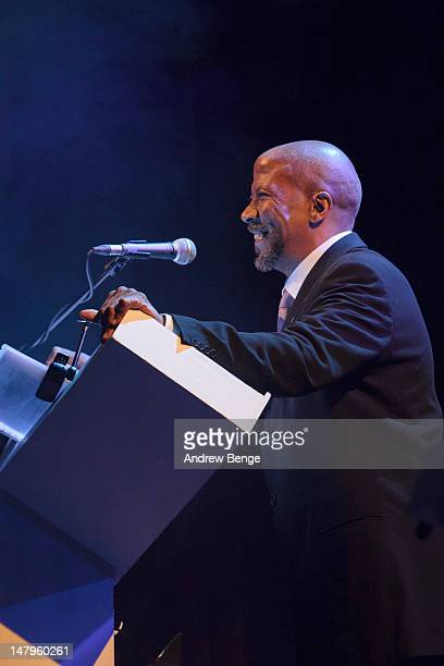 Reg E. Cathey performs on stage at Salford Lowry on July 6, 2012 in Manchester, United Kingdom.