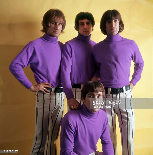 Reg Presley Chris Britton Pete Staples and Reggie Bond who together formed the English rock band The Troggs and who had a hit in the US with Wild...