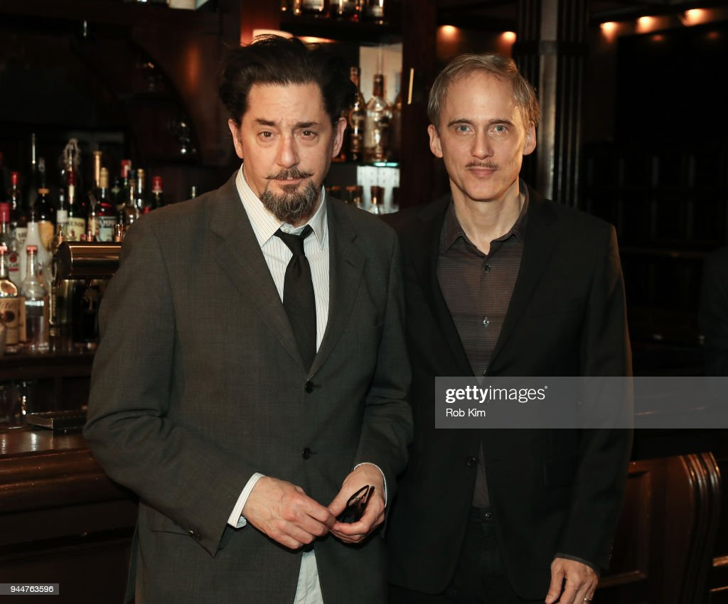 Reg Rogers (L) and Neal Huff attend 'The Iceman Cometh' Broadway Meet The Press at Delmonico's on April 11, 2018 in New York City.