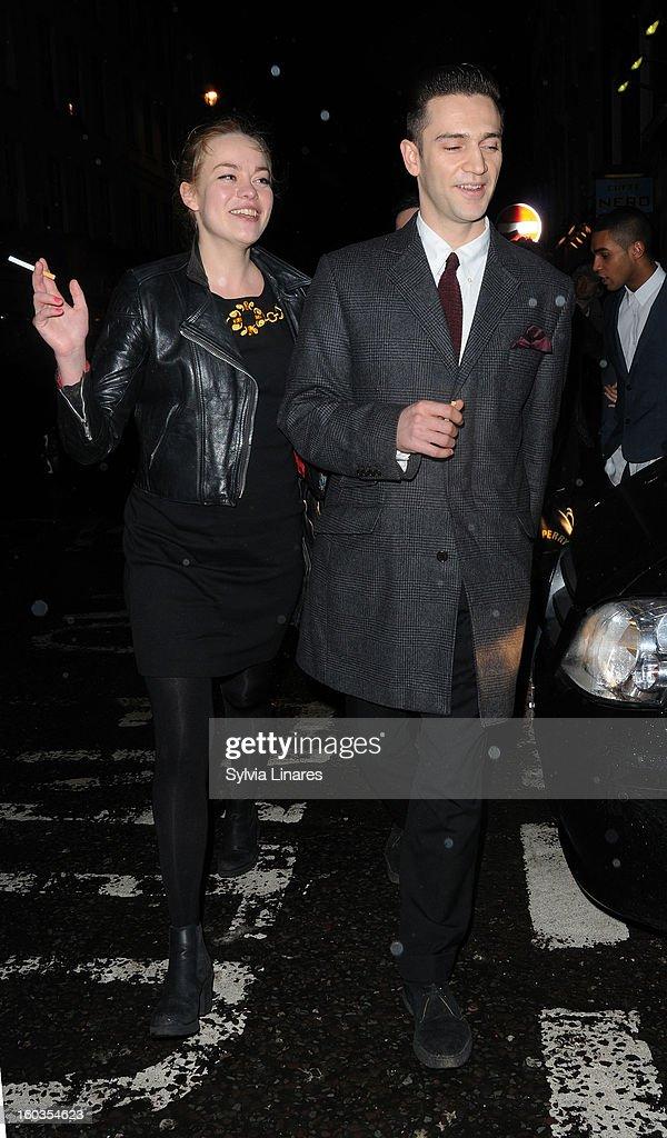 Reg Traviss leaving the groucho Bar Restaurant on January 29, 2013 in London, England.