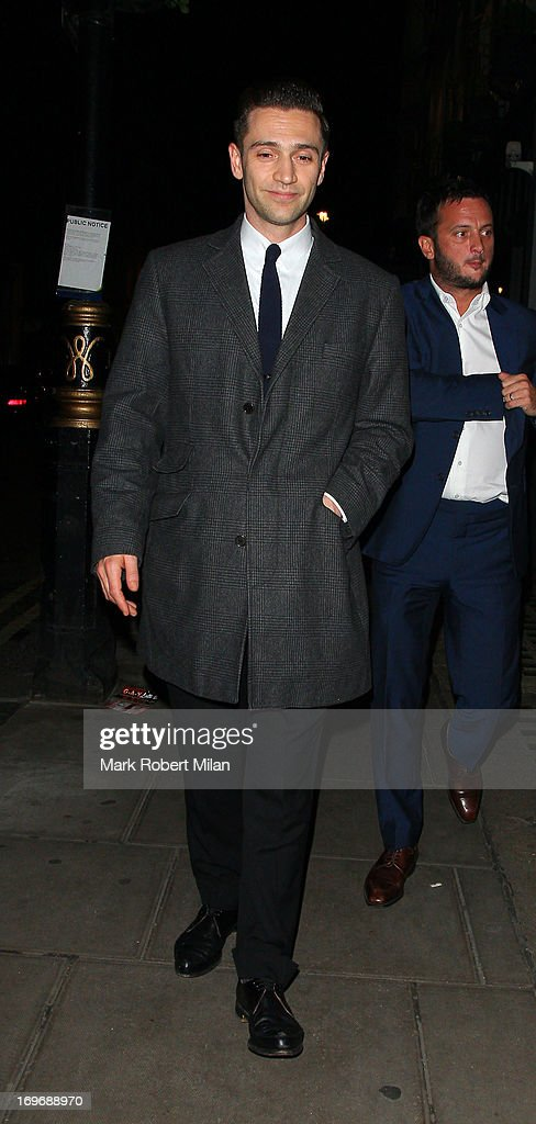 Reg Traviss leaving the Groucho club on May 30, 2013 in London, England.